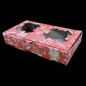 جعبه مقوایی حمل لیوان کاغذی رنگی