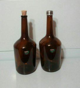 بطری شیشه ای یک لیتری رویال قهوه ای درب چوب پنبه