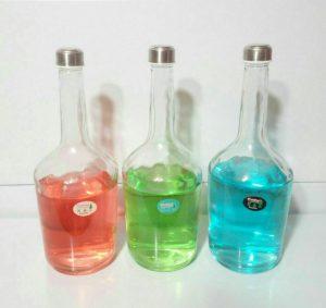 بطری شیشه ای یک لیتری رویال شفاف درب فلزی