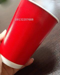 لیوان کاغذی دوجداره قرمز 120 220 360 420